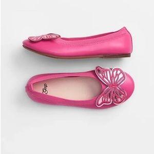 Gap pink butterfly flats size 3
